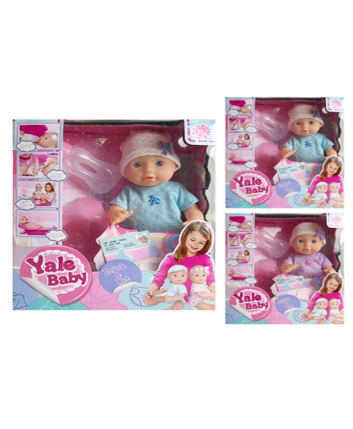 Пупс Yale Baby Drink&Wet